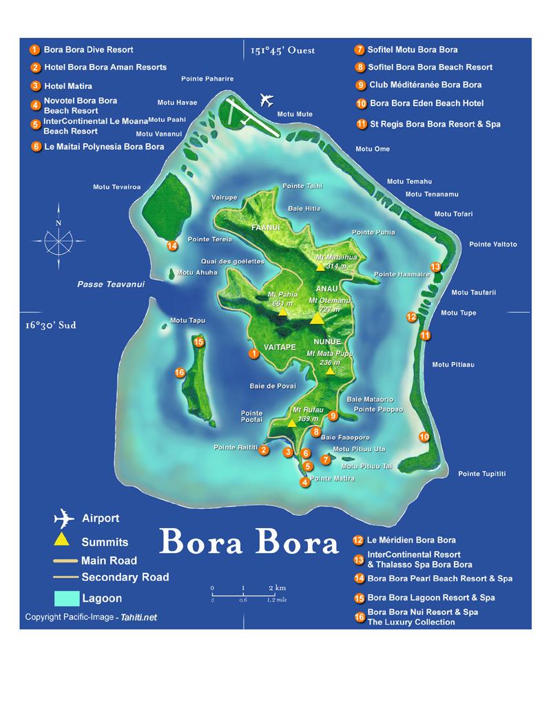 Cartina Mondo Bora Bora.Vacanza Relax A Bora Bora