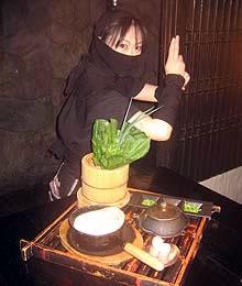 la cameriera ninja
