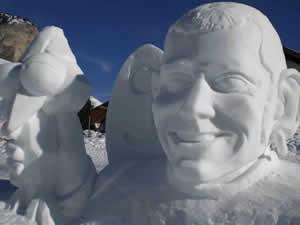 sculture di neve in val gardena