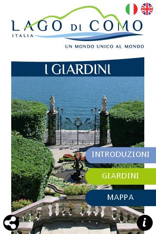 I giardini del Lago di Como su Iphone