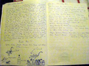 il libro degli ospiti della villa di pruneta di sopra