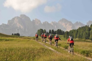 Mountain bike nelle Dolomiti