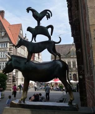 Il centro storico di Brema in Germania