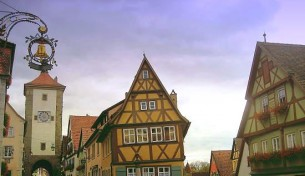 Romantico borgo Rothenburg ob der Tauber in Baviera