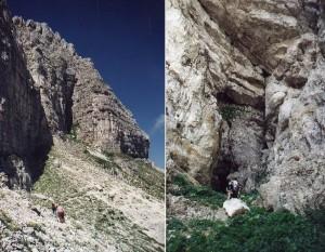 grotta dell'oro sul monte Murolungo