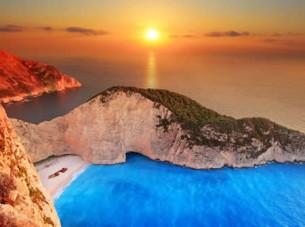 La spiaggia del naufragio in Grecia