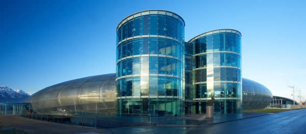 la struttura del museo Redbull in Austria
