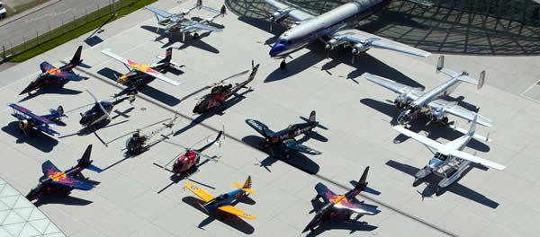 Gli aerei del museo Redbull in Austria