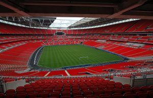 Lo stadio di Wembley visto da dentro