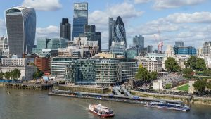Visuale aerea di Londra