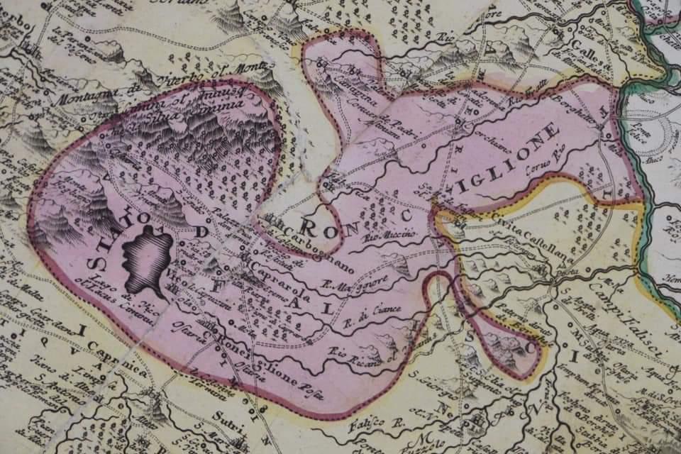 Cartina storica di Ronciglione (VT)